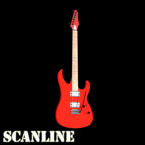 цахилгаан гитар өндөр нарийвчлалтай 3d загвар max fbx obj 131247