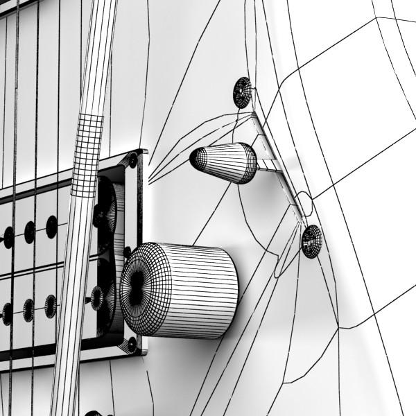 цахилгаан гитар өндөр нарийвчлалтай 3d загвар max fbx obj 131251