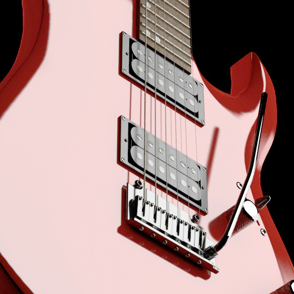 electric guitar with amplifier & cable 3d model max fbx obj 131342