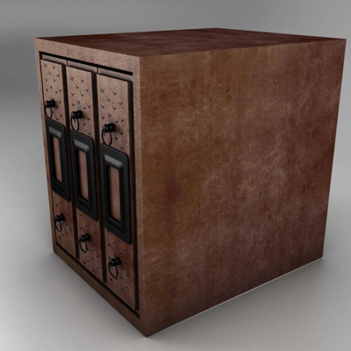 filing cabinet 3d model 3ds max fbx ma mb obj 155520