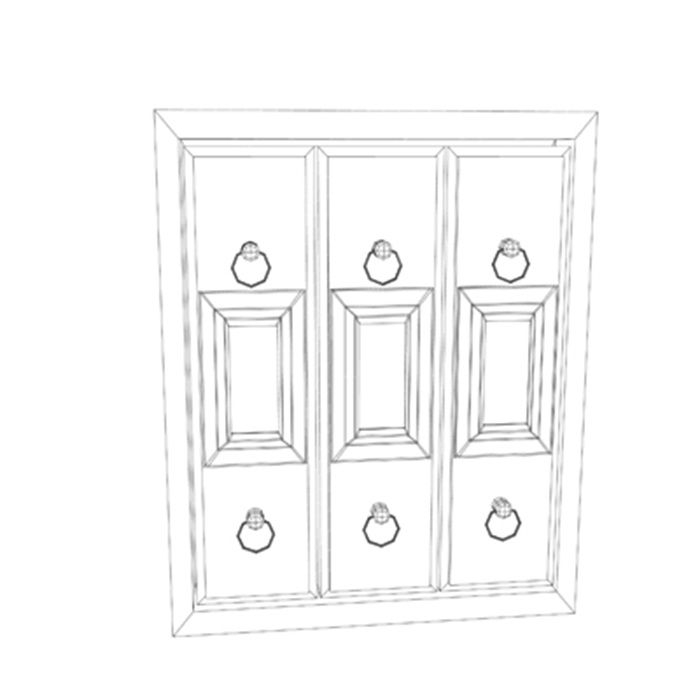 filing cabinet 3d model 3ds max fbx ma mb obj 155526