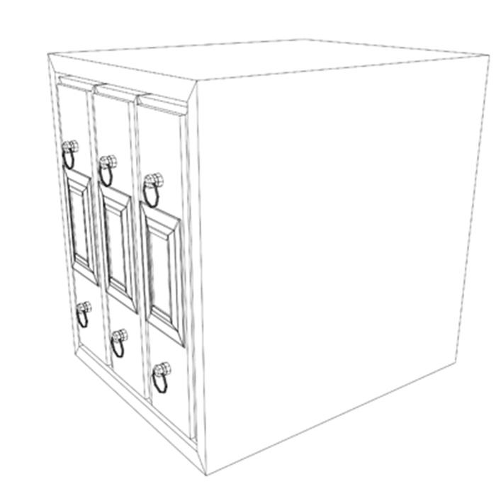 filing cabinet 3d model 3ds max fbx ma mb obj 155528