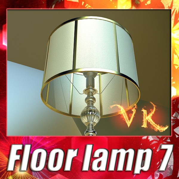 floor lamp 07 constaletti 3d model 3ds max fbx obj 135223
