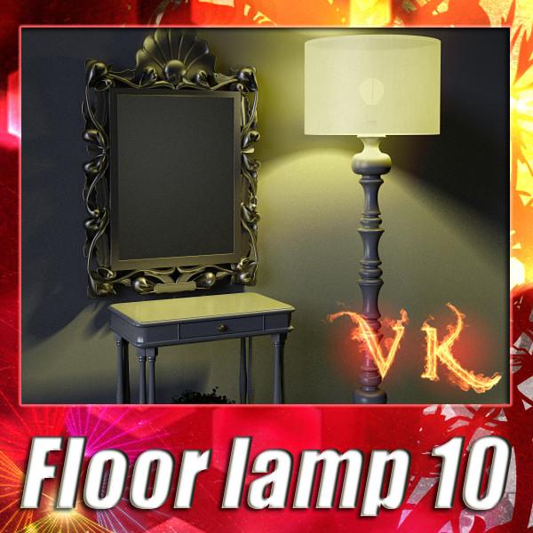 lampu lantai 10 mariposa rama-rama 3d model 3ds max fbx obj 135268