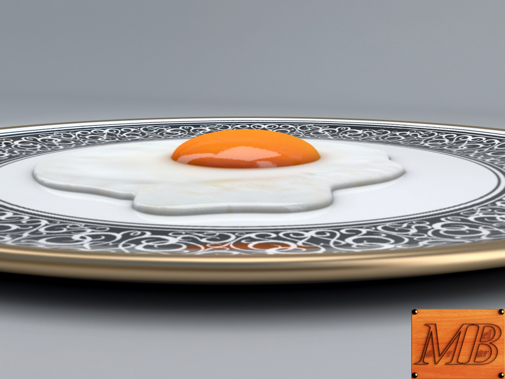 fried egg dish 3d model 3ds max fbx c4d dae obj 156249