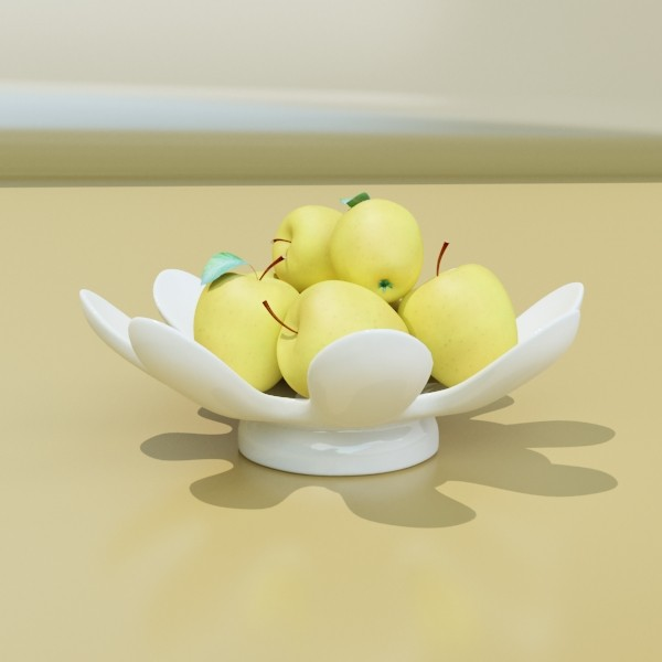 fruit in bowls collection 3d model 3ds max fbx obj 133978