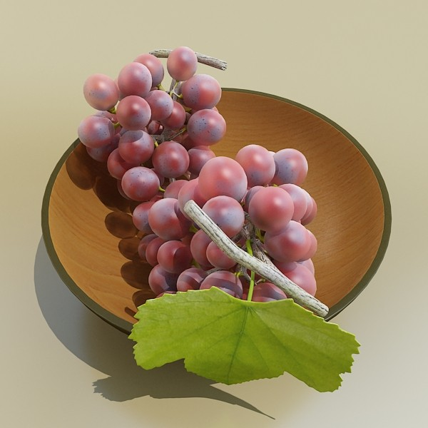 fruit in bowls collection 3d model 3ds max fbx obj 133992