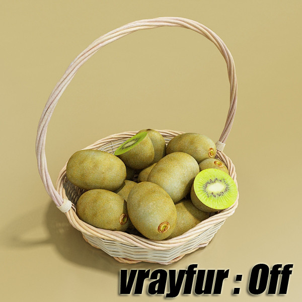 fruits & basket collection 3d model 3ds max fbx obj 133771