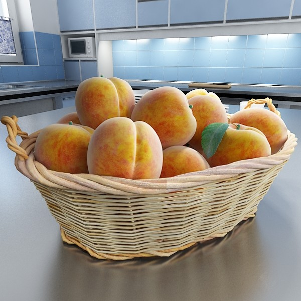 fruits & basket collection 3d model 3ds max fbx obj 133804