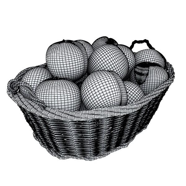 fruits & basket collection 3d model 3ds max fbx obj 133807