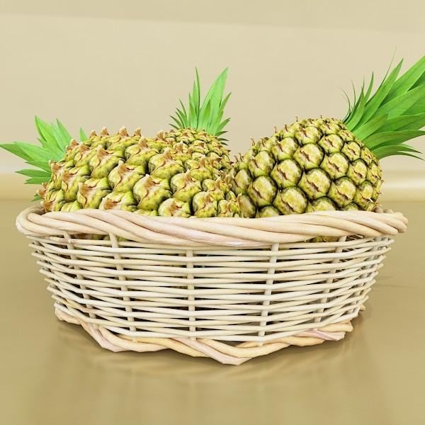 fruits & basket collection 3d model 3ds max fbx obj 133823