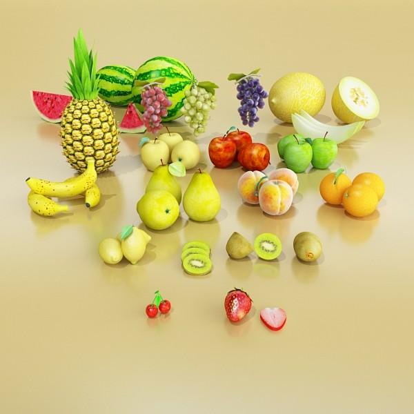 fruits collection high res textures 17 3d model 3ds max fbx obj 133232
