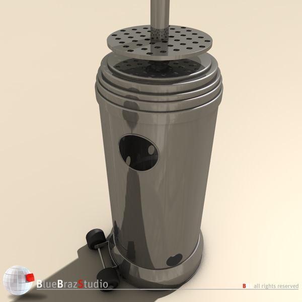 gas patio heater 3d model 3ds fbx c4d obj 140682