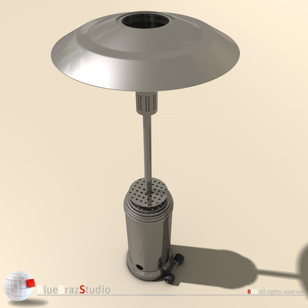 gas patio heater 3d model 3ds fbx c4d obj 140684