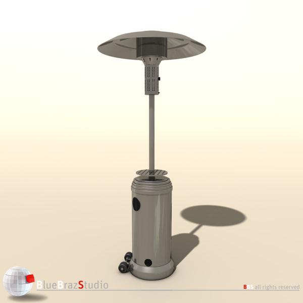 gas patio heater 3d model 3ds fbx c4d obj 140680 - Gas Patio Heater