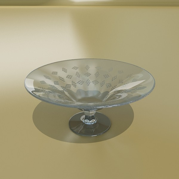 glass compote bowl 3d model 3ds max fbx obj 133057