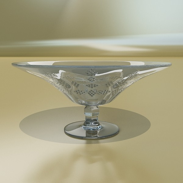 glass compote bowl 3d model 3ds max fbx obj 133058