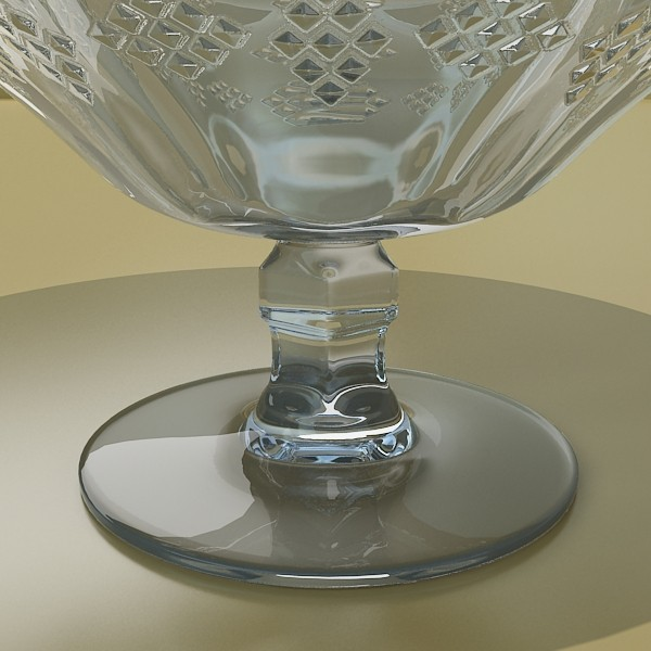 glass compote bowl 3d model 3ds max fbx obj 133059