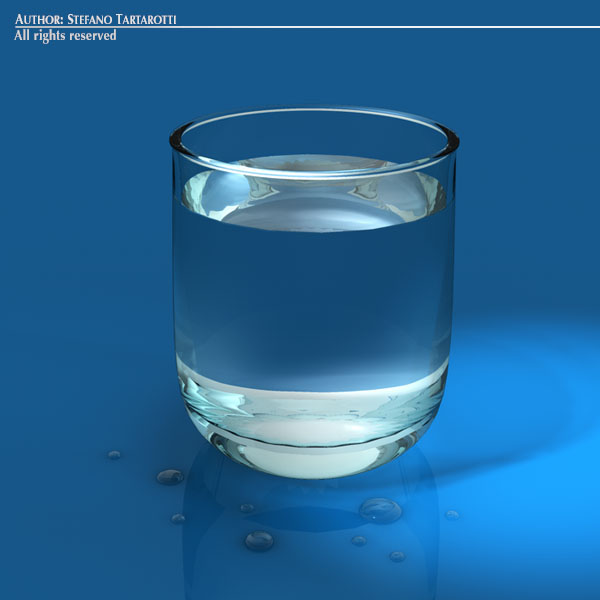 glass of water 3d model 3ds dxf fbx c4d dae obj 129262
