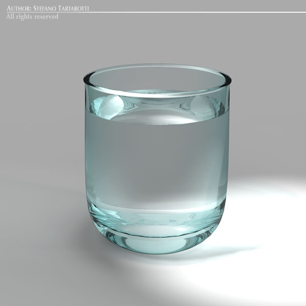glass of water 3d model 3ds dxf fbx c4d dae obj 129264
