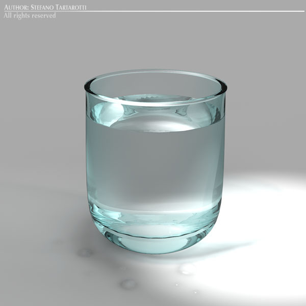 glass of water 3d model 3ds dxf fbx c4d dae obj 129265