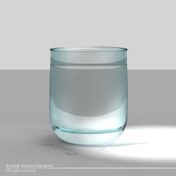 glass of water 3d model 3ds dxf fbx c4d dae obj 129266