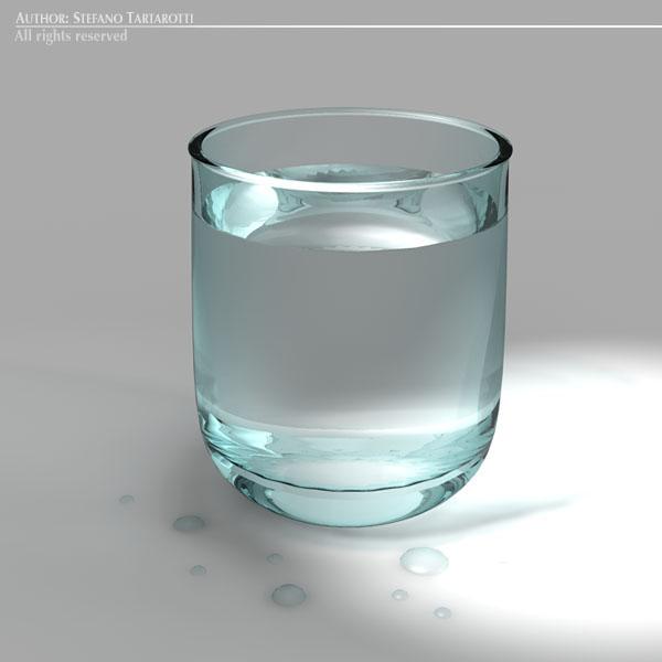 glass of water 3d model 3ds dxf fbx c4d dae obj 129267