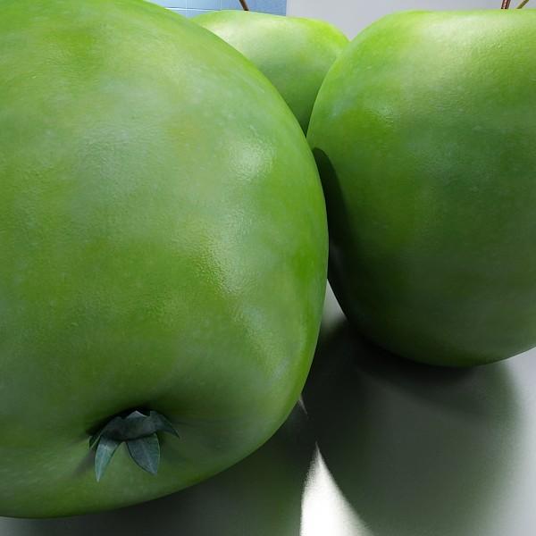 zaļš ābolu augsts detalizēts 3d modelis 3ds max fbx obj 132699