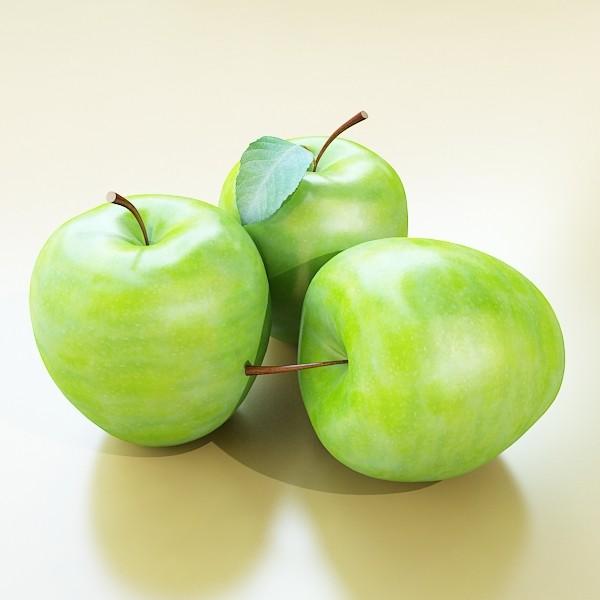 zaļš ābolu augsts detalizēts 3d modelis 3ds max fbx obj 132700