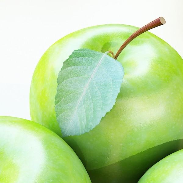 zaļš ābolu augsts detalizēts 3d modelis 3ds max fbx obj 132701
