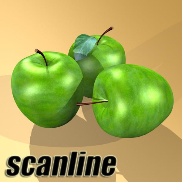 zaļš ābolu augsts detalizēts 3d modelis 3ds max fbx obj 132703