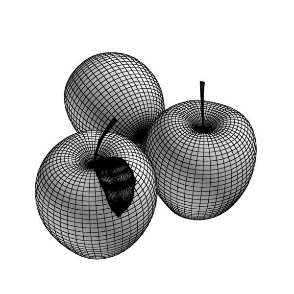 zaļš ābolu augsts detalizēts 3d modelis 3ds max fbx obj 132704