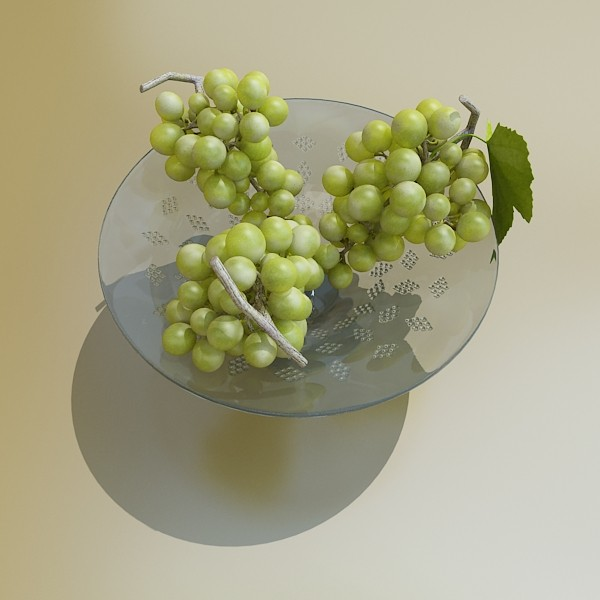 green grapes in glass bowl 3d model 3ds max fbx obj 133036