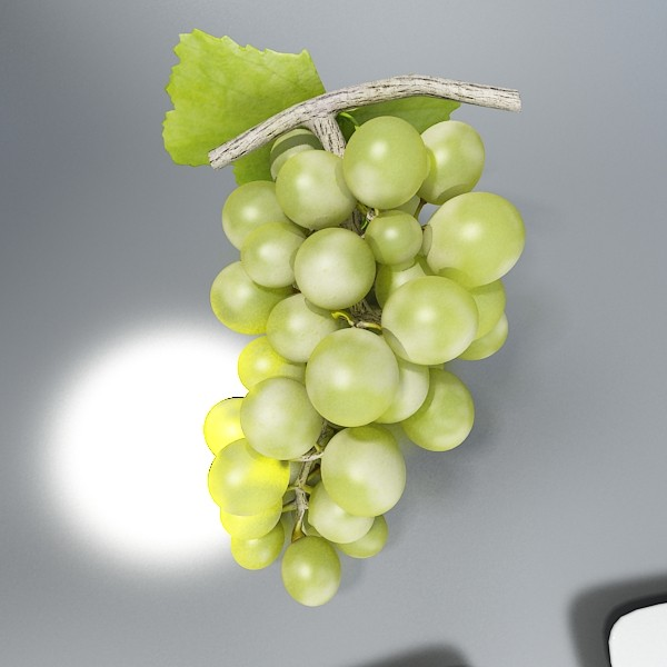 green grapes in glass bowl 3d model 3ds max fbx obj 133042