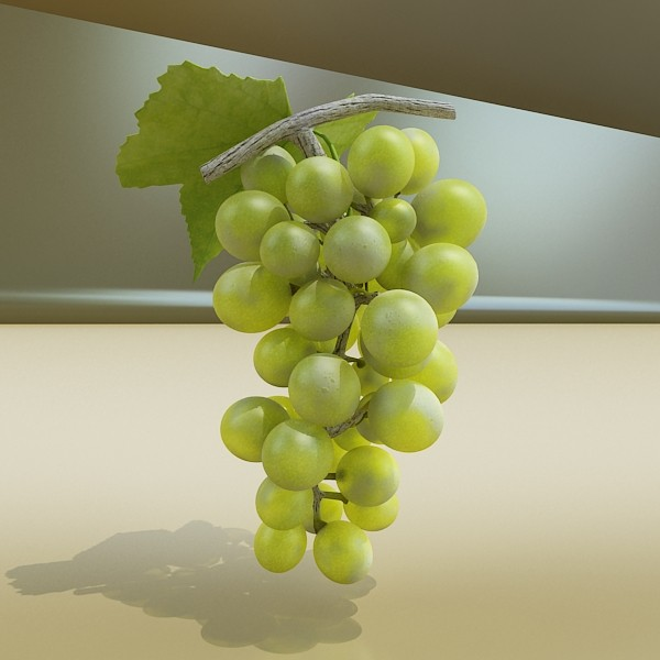 green grapes in glass bowl 3d model 3ds max fbx obj 133044