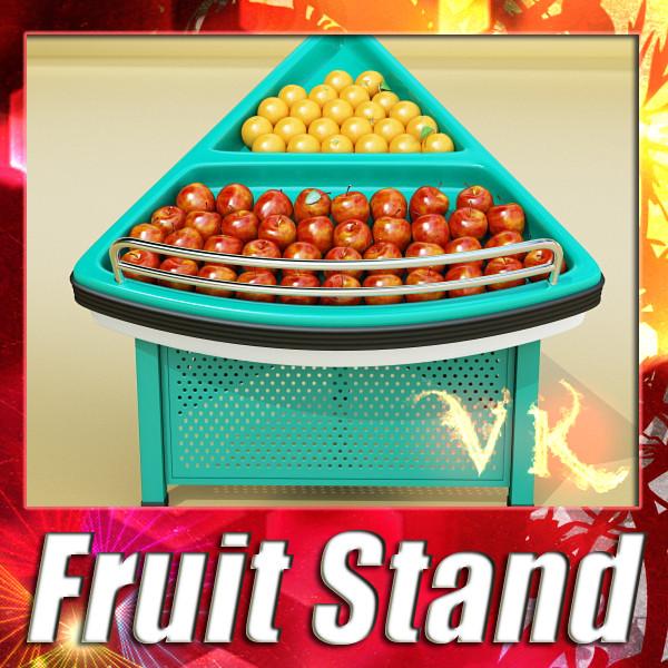 prodavaonica prehrambenih namirnica proizvodi izložbeni pribor 3d model 3ds max fbx obj 134072