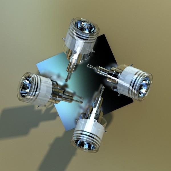 halogen ceiling light 08 photoreal 3d model 3ds max fbx obj 134672