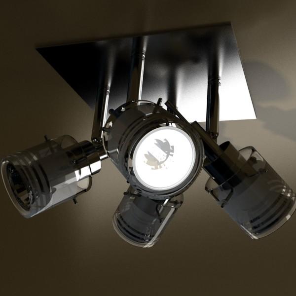 halogen ceiling light 08 photoreal 3d model 3ds max fbx obj 134673