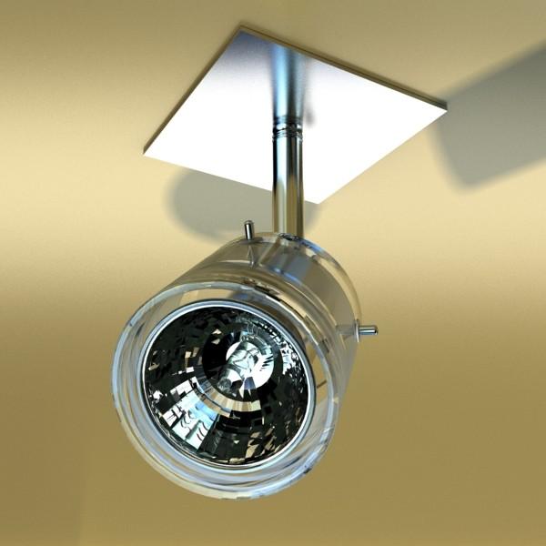 halogen ceiling light 08 photoreal 3d model 3ds max fbx obj 134674