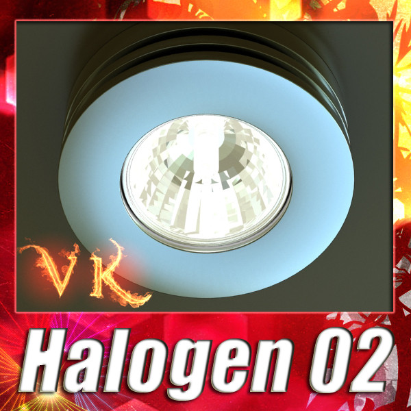 halogen lamp 02 high detail 3d model 3ds max fbx obj 134507