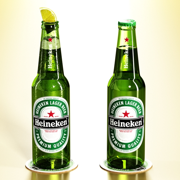 heineken beer bottle 3d model 3ds max fbx obj 141601