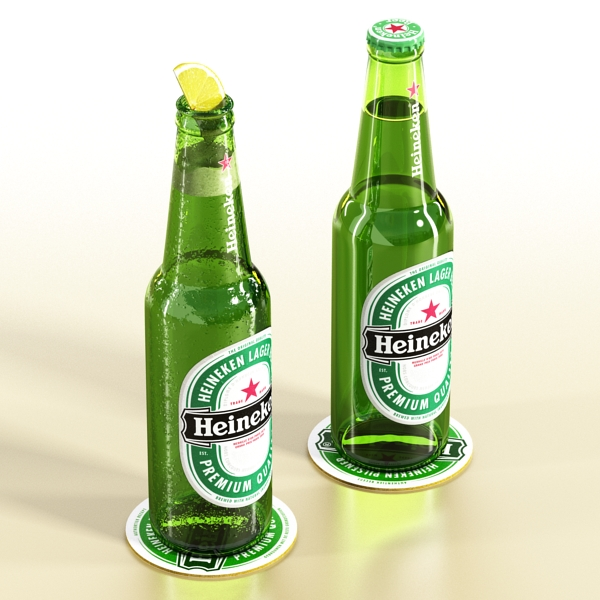 heineken beer bottle 3d model 3ds max fbx obj 141602