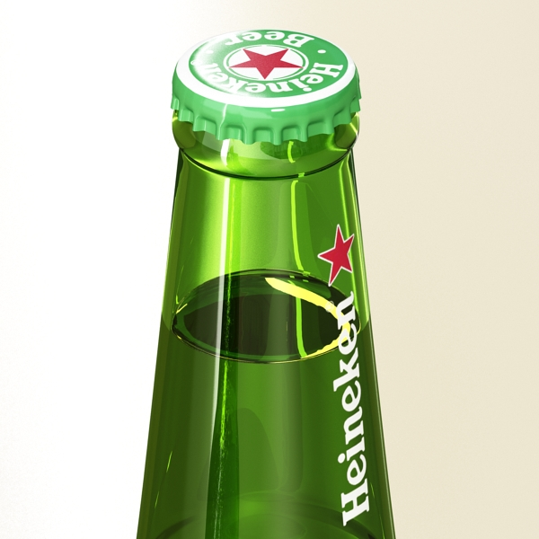 heineken beer bottle 3d model 3ds max fbx obj 141604