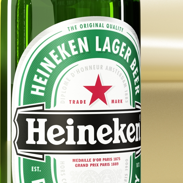 heineken beer bottle 3d model 3ds max fbx obj 141605