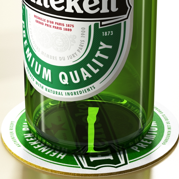 heineken beer bottle 3d model 3ds max fbx obj 141606
