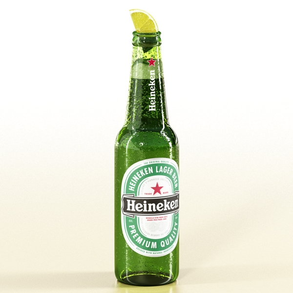 heineken beer bottle 3d model 3ds max fbx obj 141608