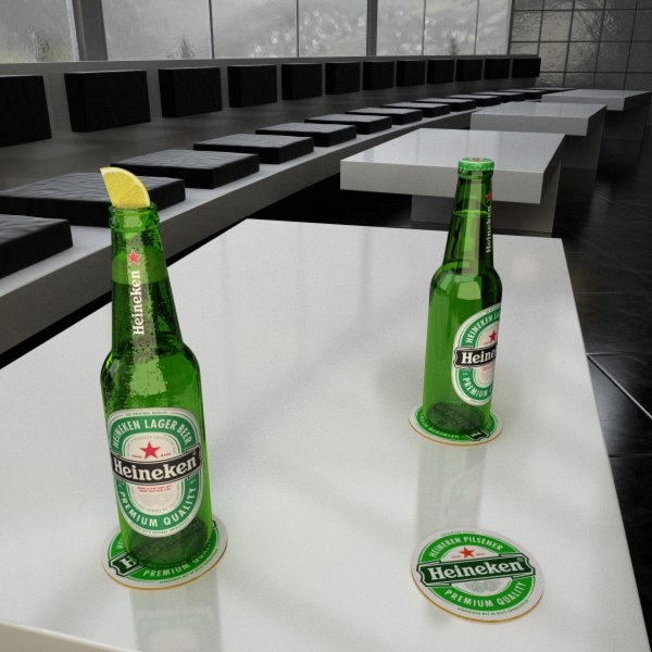 heineken beer bottle 3d model 3ds max fbx obj 141609