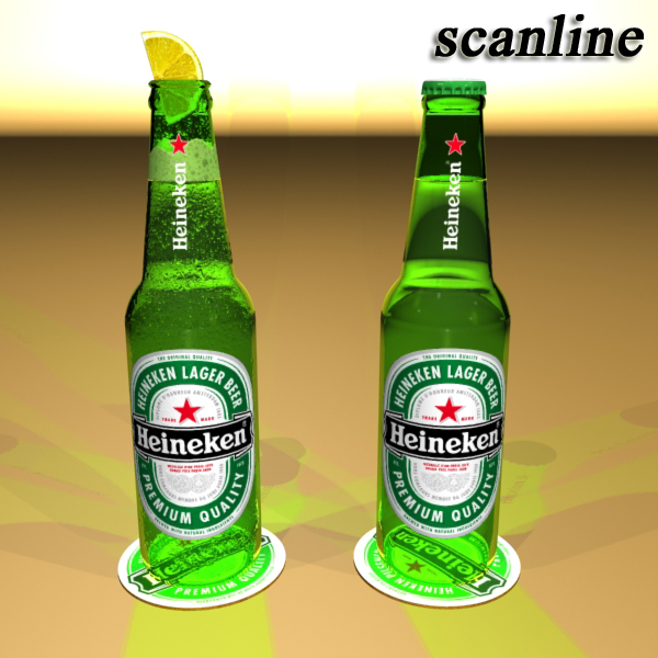 heineken beer bottle 3d model 3ds max fbx obj 141610