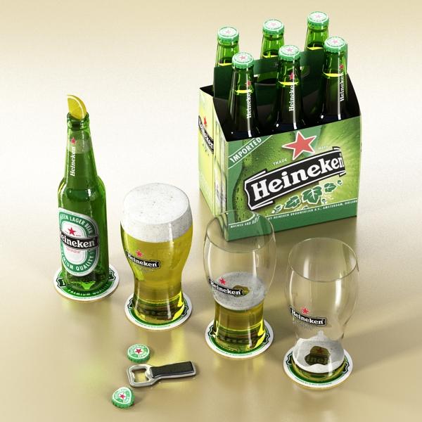 Heineken pivə toplama 3d modeli 3ds max fbx obj 141868