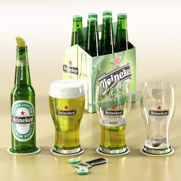 Heineken pivə toplama 3d modeli 3ds max fbx obj 141869
